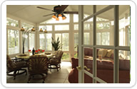 Our Gable style sunrooms can extend your living space for 3 or 4 season use.