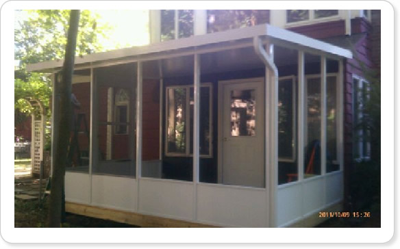 A screen room can be added to any existing Long Island structure.
