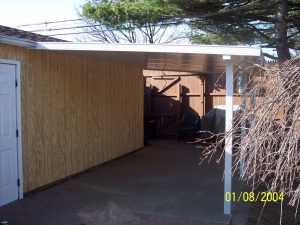 Awning attached to garage