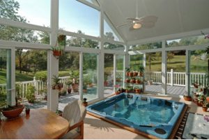 Eze Breeze gable style sun room