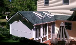 Gable Sunroom with privacy wall