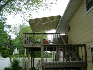 Retractable Awning installed on 2nd floor